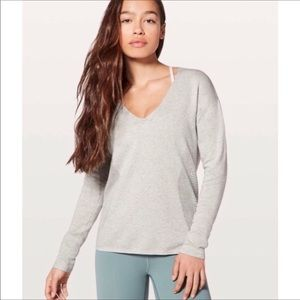 ⬇️LULULEMON Grey Still Movement Vented Sweater